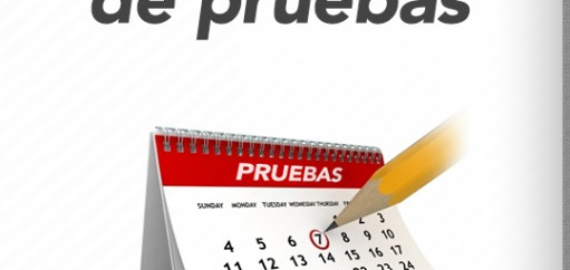 CALENDARIO DE PRUEBAS ESPECIALES , EVALUACIONES PENDIENTES